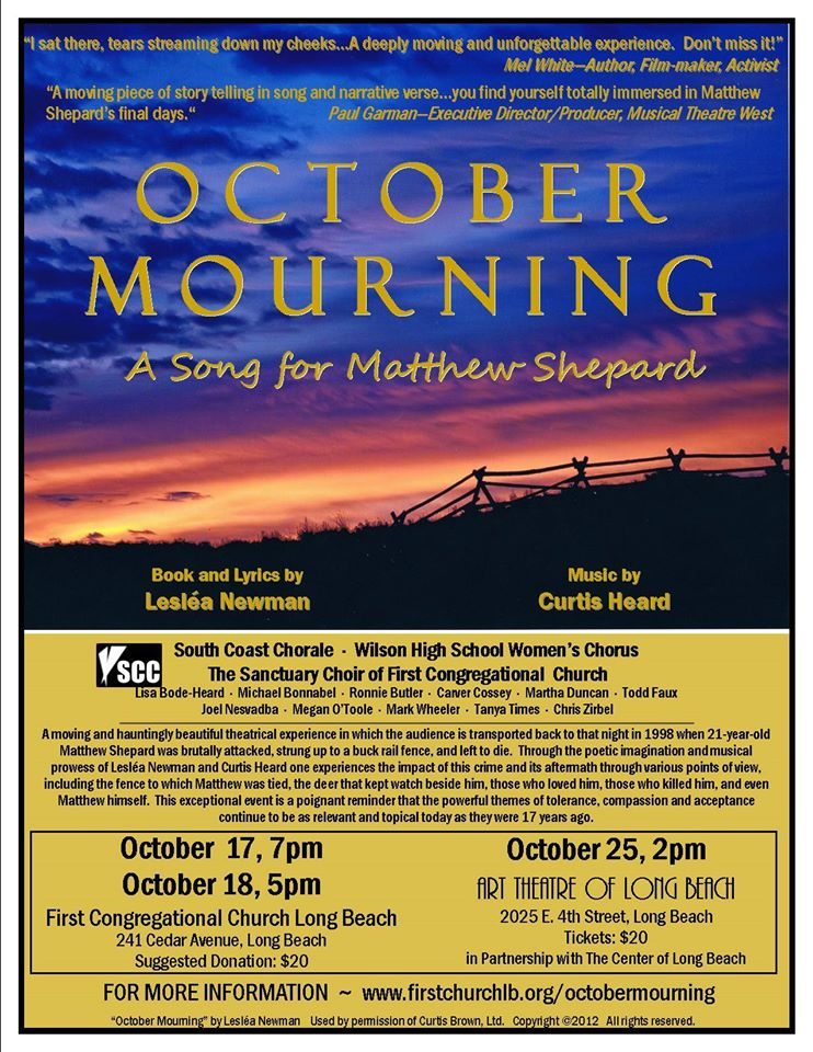 an analysis of october mourning a poetry collection by leslea newman In lesléa newman's new collection of poems, october mourning: a song for matthew shepard, published by candlewick press, she does all of these things, to great effect and with aching sorrow newman is an award-winning poet and author of such iconic books as heather has two mommies , and nine of her books have been lambda literary award.